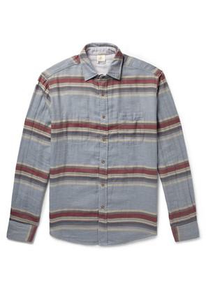 Faherty - Belmar Reversible Striped Cotton Shirt - Light gray