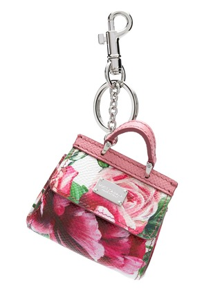Dolce & Gabbana Mini Sicily bag keychain - Pink & Purple