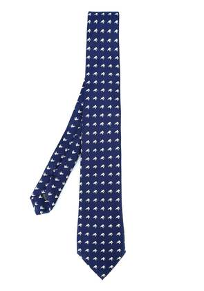 Fefè elephants pattern tie - Blue