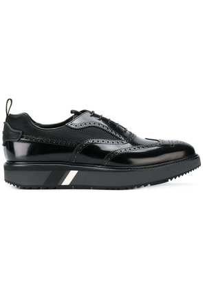 Prada exaggerated sole brogues - Black