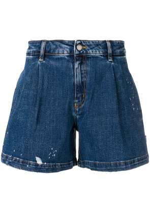 Love Moschino distressed flared shorts - Blue