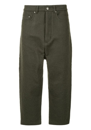 Rick Owens Collapse cropped jeans - Grey