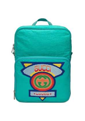 Gucci Medium backpack with Gucci '80s patch - Blue