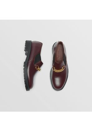 Burberry Link Detail Leather Shoe, Red