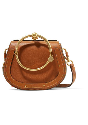 Chloé - Nile Bracelet Small Textured-leather And Suede Shoulder Bag - Brown