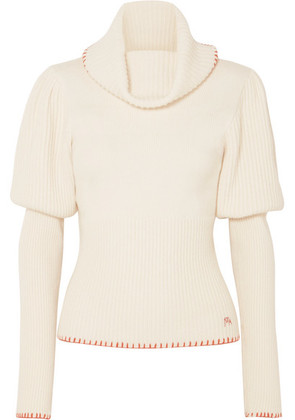 JW Anderson - Ribbed-knit Turtleneck Sweater - Cream