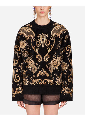 Dolce & Gabbana Knitwear - WOOL KNIT BLACK