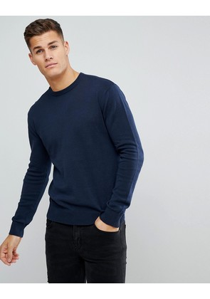Brave Soul Crew Neck Jumper - Navy