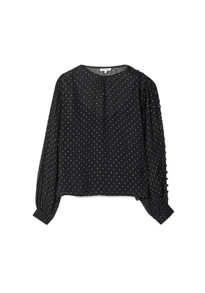 Livia Blouse - Black & Gold