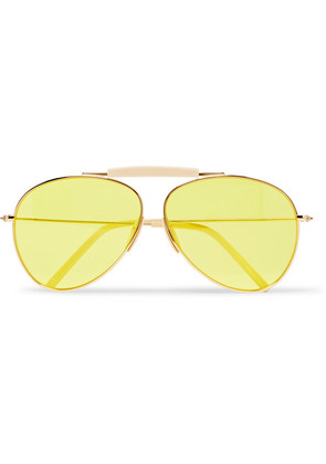 Howard Aviator-style Gold-tone And Acetate Sunglasses