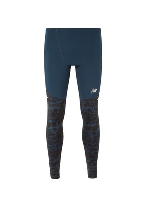 Impact Printed Stretch-jersey Running Tights