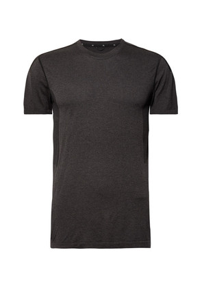Performance Mesh-panelled Mélange Jersey T-shirt