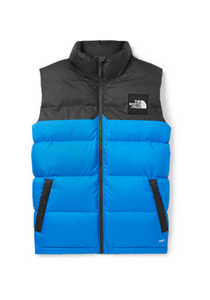 1992 Nuptse Two-tone Quilted Shell Down Gilet