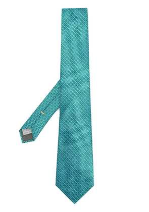 Canali printed tie - Green