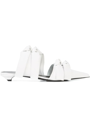 Proenza Schouler Leather Tie-Detail Mule - White