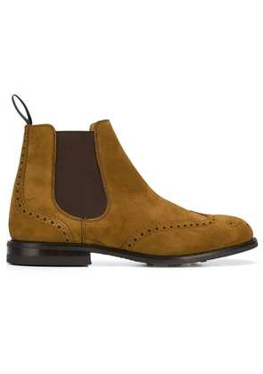 Church's Chelsea brogue boots - Brown