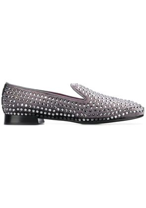 Alberto Gozzi studded loafers - Green