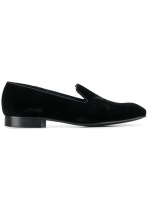 Church's embroidered crown loafers - Black