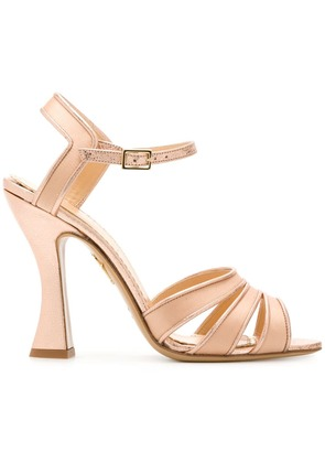 Charlotte Olympia strappy sandals - Metallic