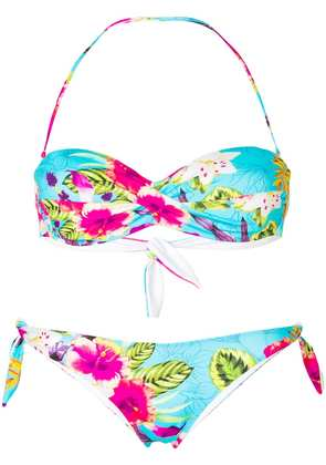Mc2 Saint Barth floral patterned bandeau bikini - Multicolour