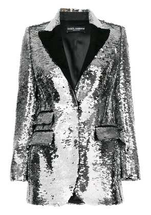 Dolce & Gabbana sequinned blazer - Metallic
