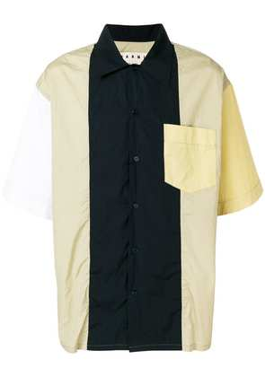 Marni casual colour block shirt - White