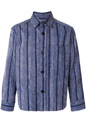 Marni long sleeve sport shirt - Blue