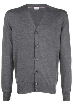 Moncler v neck cardigan - Grey