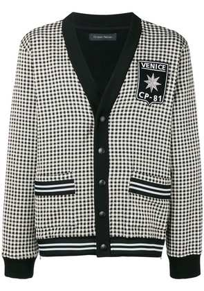 Christian Pellizzari houndstooth cardigan - Black