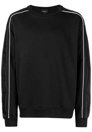 3.1 Phillip Lim contrast striped sleeve sweatshirt - Black