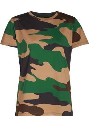 Burberry camouflage print cotton jersey T-shirt - Green