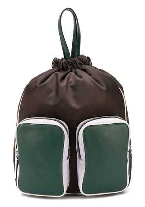 Marni double pocket backpack - Brown