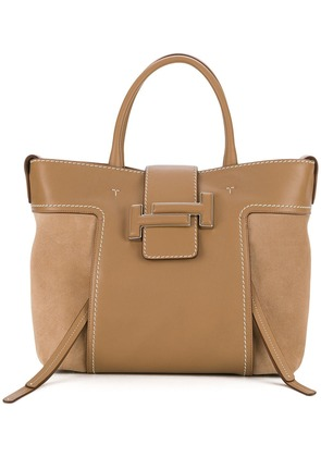 Tod's Double T tote - Nude & Neutrals
