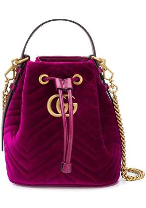 Gucci GG Marmont tote bag - Pink & Purple