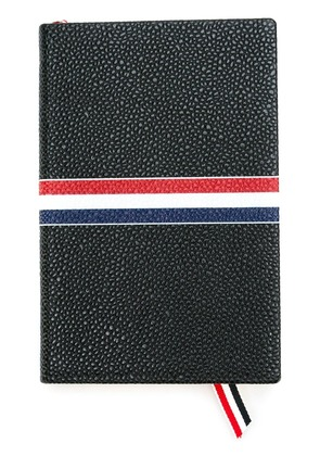 Thom Browne small tricolour notebook - Black