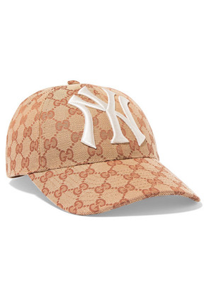 Gucci - Embroidered Coated-canvas Baseball Cap - Brown