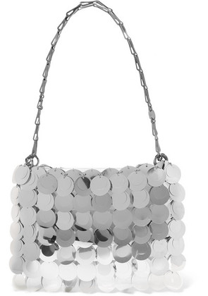 Paco Rabanne - Sparkle 1969 Sequined Faux Leather Shoulder Bag - Silver