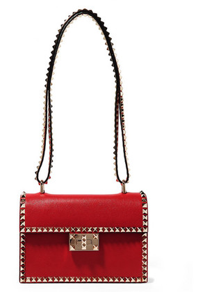Valentino - Valentino Garavani The Rockstud No Limit Textured-leather Shoulder Bag - one size