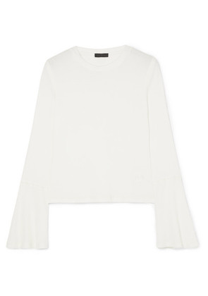 The Range - Waffle-knit Stretch-jersey Top - White