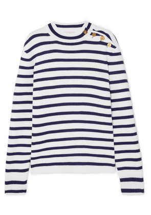 Paco Rabanne - Striped Wool Sweater - Navy