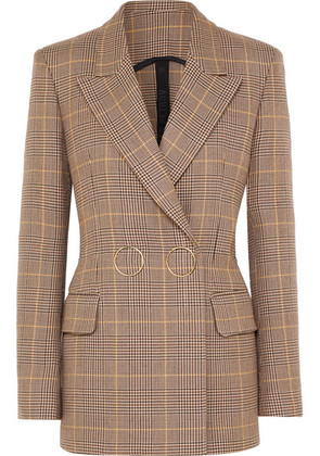 Petar Petrov - Double-breasted Checked Wool Blazer - Tan