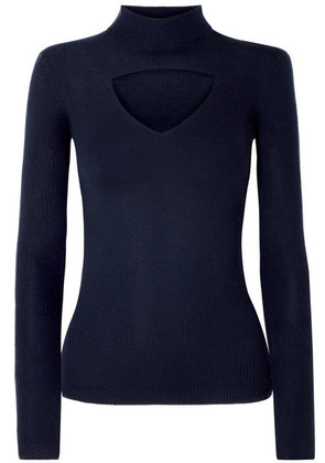 Temperley London - Gravity Cutout Ribbed Merino Wool Sweater - Petrol