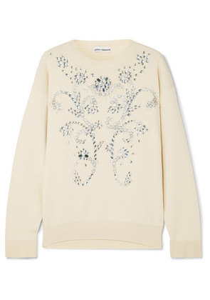 Paco Rabanne - Embellished Wool-blend Sweater - Ivory