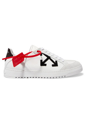 Off-White - Appliquéd Textured-leather Sneakers - IT38
