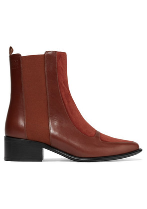 Loewe - Leather And Suede Chelsea Boots - Brick