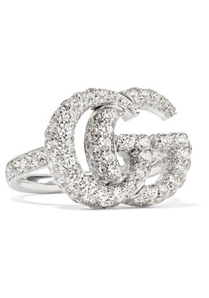 Gucci - 18-karat White Gold Diamond Ring - 16