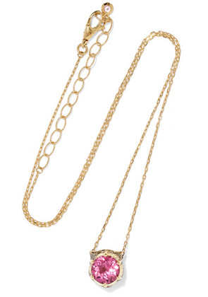 Gucci - 18-karat Gold Multi-stone Necklace - one size