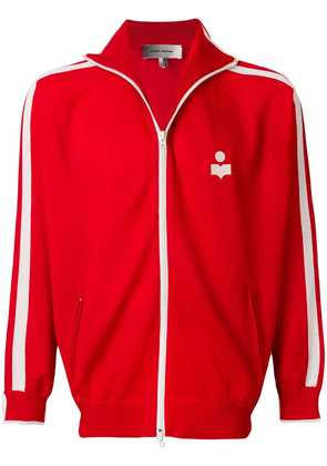 Isabel Marant high neck logo sports jacket - Red