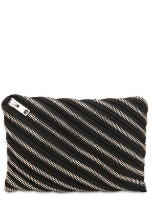 UNZIP COTTON CLUTCH
