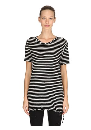 SINISTER STRIPED COTTON JERSEY T-SHIRT